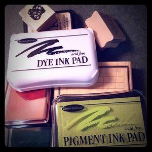 Ink pad and stamp bundle